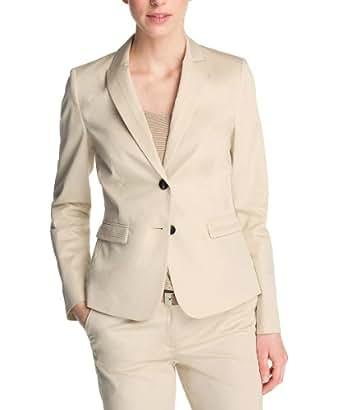 ESPRIT Collection Damen Blazer Q23035, Gr. 36 (S), Beige (276 Beach Beige)