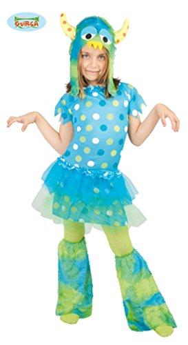 Monster - Kostüm für Mädchen Gr. 110 - 146, (Grüne Monster Mädchen Kostüm)