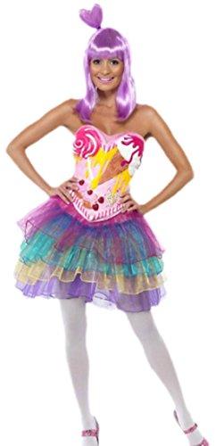 erdbeerloft - Damen Candy Shop Queen Kostüm , S, Mehrfarbig