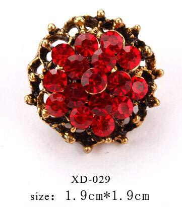 Antike vergoldete rote Kristallrhinestones kleine süße Reversnadel Brosche für Frauen oder Mädchen Bekleidungszubehör