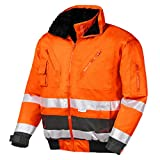 teXXor 4107 Warnschutz-Pilotenjacke Vancouver Wasserdichte, Winddichte Arbeitsjacke orange S, XL
