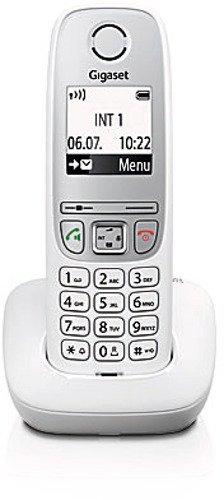 Gigaset A415 Schnurloses Telefon ohne Anrufbeantworter (einfaches DECT Telefon mit Freisprechfunktion - Grafik Display und leichter Bedienung) weiß (Schnurloses Telefon)