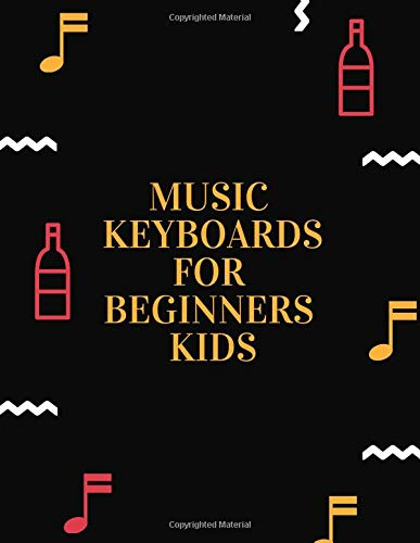 music keyboards for beginners kids: Short Blank Sheet Music Composition and Notation Notebook /Staff Paper/Music Composing / ... notes book/music paper spiral notebook(Size