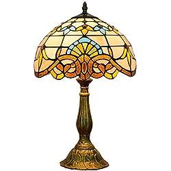 KCoob Tischlampe mit alten mysteriösen Muster für Schlafzimmer mittlerer Größe natürliches Licht