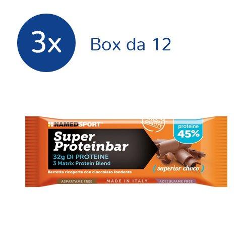 NAMEDSPORT 3x Super Proteinbar 45% 12x70 g. (GUSTO: SUPERIOR CHOCO) - 41G35x1 4nL