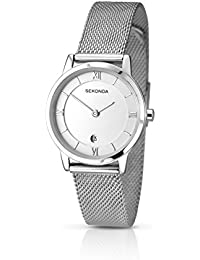 Sekonda Women's Quartz Watch with Silver Dial Analogue Display and Silver Stainless Steel Bracelet 2101.27