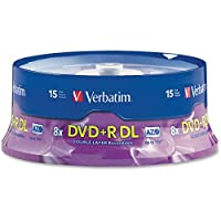 ‏‪15pk Dvd+r Dl 8.5gb 8x Branded Spindle‬‏