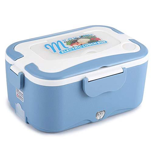 Pranzo al sacco per riscaldamento auto portatile, contenitore per scaldavivande da pranzo riscaldamento elettrico per auto da 1,5 litri per viaggiare(blu 12v)