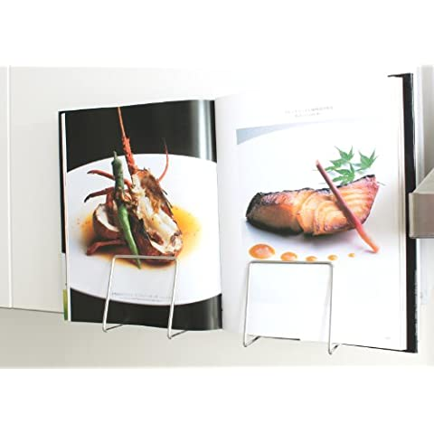Plew Plew stainless steel RECIPE/COOK BOOK HOLDER, wall or cabinet door mounted by Plew Plew