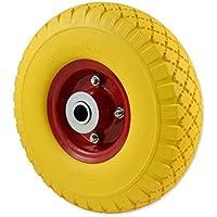 Ferrerstock - Ruota per carriola professionale o domestica, antiforatura, cerchio in metallo