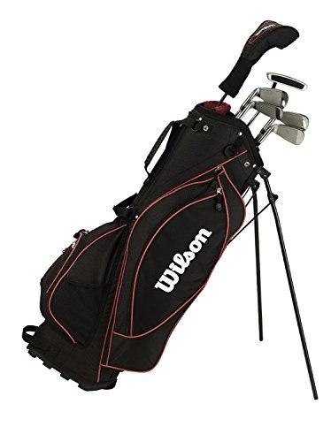 Wilson Half Set Prostaff HL Graphit 1/2 Satz Bolsa de Golf, Hombre, Gris, 3W-5-7-9-S-PUTT-BAG