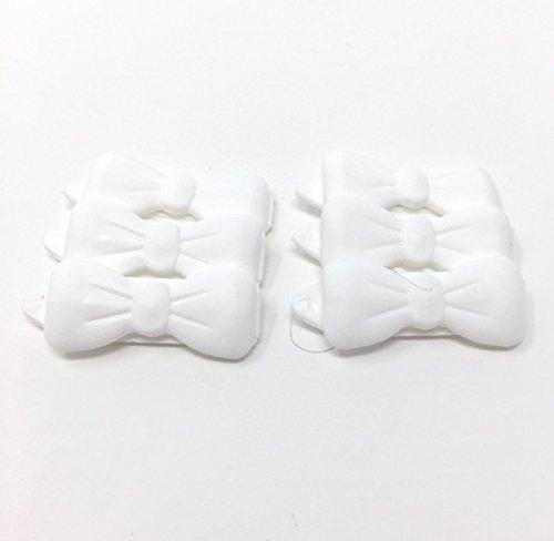 Camtiac Hunde-Haarspange Mini 6 Stück Weiss 19