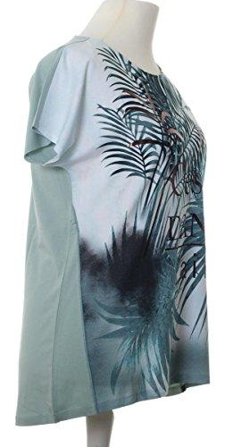 df01621579c274 ... No Secret T-Shirt Damen Palmen für Mollige mit großen Größen kurzarm  Übergrößen Grün ...