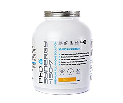 PHD Nutrition Synergy ISO-7 All in One Protein Powder 2000g (Banana) by PhD Nutrition