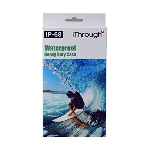 iPhone SE 5S 5 Wasserdichtes Hülle Case, iThrough® iPhone SE Magnetischen Wasserdichte Hülle,Staubdicht,Stoßfest,Schneefest, IP68 Zertifiziert mit Touch-ID, Schwerlaste und Tragbare Handyhülle für iPh Schwarz