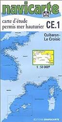 Carte marine : Carte d'étude permis mer hauturier - Quiberon - Le Croisic