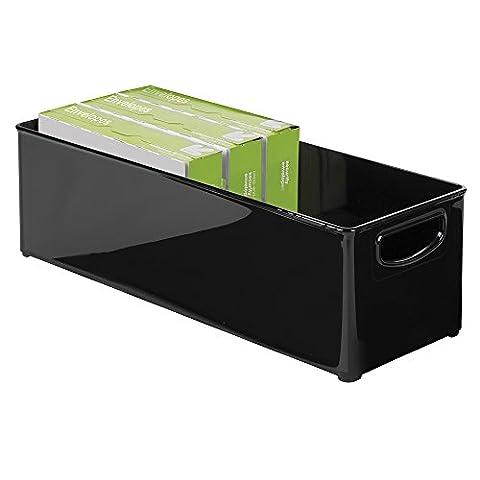 mDesign Office Supplies, Cabinet, Deep Drawer Storage Organizer Bin - Large, Black