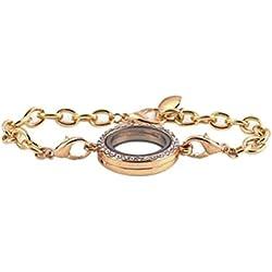 ROSENICE Schwimmend Charm Armband Armkette Medaillon für Schmuckherstellung (Golden)