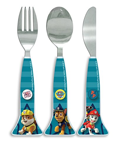 Paw Patrol Good Pups Shaped Cutlery, Plastic, Multi-Colour, Set of 3