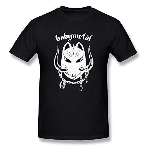 Fieber Schwarzes T-shirt (Hsuail Herren Babymetal Logo T-Shirt, Herren, schwarz, X-Large)