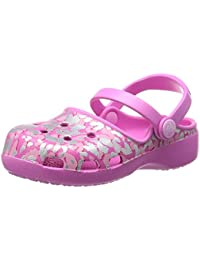 crocs Girl's Karin Sparkle Leopard Clogs