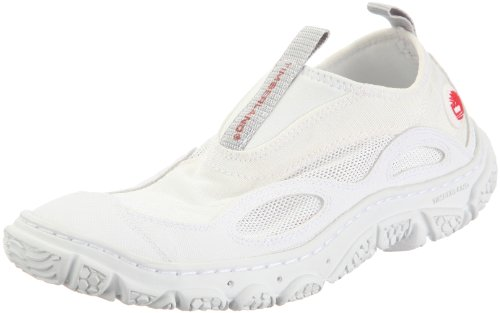 Timberland Wake FTP Slip On 58620, Damen, Sportschuhe - Segeln, Weiss (White/Red), EU 39 (US 8) (Shoes Deck Timberland)