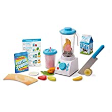 Melissa & Doug Smoothie Maker Blender Set (Helps Develop Motor and Social Skills, 24 Pieces, Great Gift for Girls and Boys - Best for 3, 4, 5 Year Olds and Up)