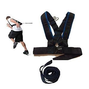 Grofitness Trainingsgeschirr / Schultergurte, für Geschwindigkeit und Agilität, Laufen, Sport, Training
