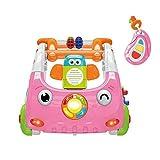 Wanlianer DREI-in-Eins-Lauflernhilfe für Babys Infant Baby Hand Push Walker Multifunktionale 3-in-1 Smart Music Light Kinder Spielzeug Push (Farbe : Rosa, Größe : 63.5 * 46.5 * 18.5CM)