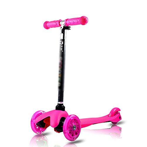 QFFL huabanche Scooter Scooter para Principiantes de Tres o Cuatro Ruedas Scooter para Destello para niños de 3-12 años Bloque Deslizante Bicicleta de 4 Colores Tamaño Opcional Opcional