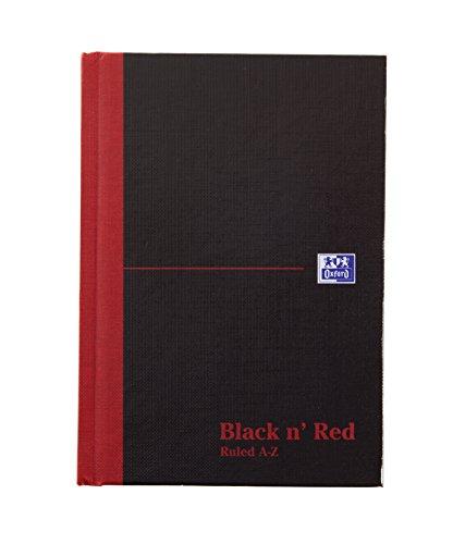 Black n' Red Buchhaltungs-Notizbuch, A6, liniert, A-Z-Register, mit festem Einband, gebunden,...