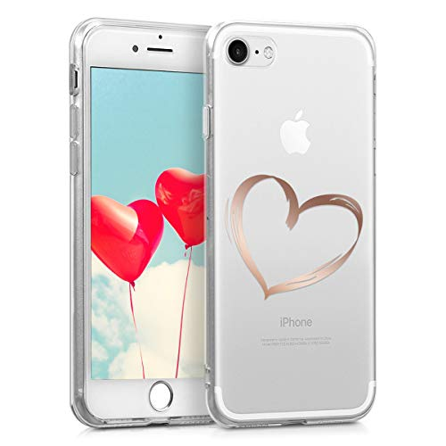 kwmobile Apple iPhone 7/8 Hülle - Handyhülle für Apple iPhone 7/8 - Handy Case in Rosegold Transparent