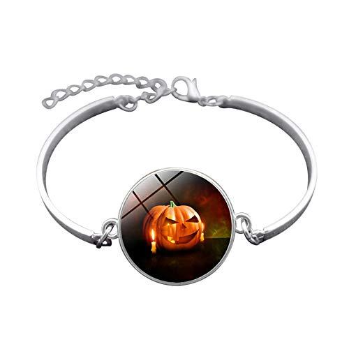(Blisfille Handgemachte Halloween Spukhaus Zeit Edelstein Armband Mode Armband Hand Link Day Herren Damen Fest)