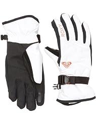 Roxy RX Jetty Solids - Guantes de nieve para mujer, color blanco, talla XL