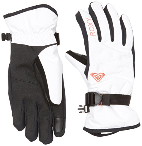 Roxy RX Jetty Solids - Guantes de nieve para mujer, color blanco, talla XL