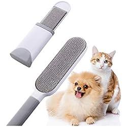 Bürste Haarentferner, Alihoo Pet Pinsel, mit doppelseitiger Fusselbürste und selbstreinigender Basis, perfekt für Möbel,Teppich,wiederverwendbar und umweltfreundlich (Large&Travel Size Brush)