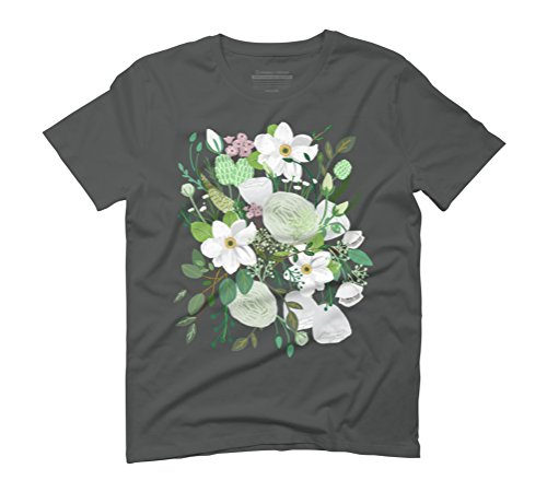 Romantic Garden Men's Graphic T-Shirt - Design By Humans Anthracite