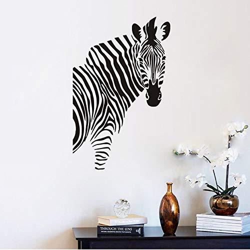 Smntt Kinderzimmer Wandtattoos, Zebra Silhouette Wandaufkleber, Aushöhlen Design, Schlafzimmer Kinderzimmer Vinyl Kunst Dekoration, Inneneinrichtungen (Magische Spiegel Zitat An Der Wand)