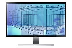 Samsung U28D590D 71,12 cm (28 Zoll) LCD-Monitor (HDMI, 1ms Reaktionszeit, 3840x2160), schwarz/silber
