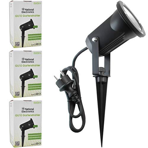 Gartenstrahler LED mit Erdspieß von National Electronics