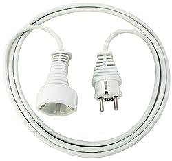 Brennenstuhl Qualitäts- Kunststoff-Verlängerungskabel mit Schutzkontakt-Stecker und -Kupplung (Verlängerungskabel für innen mit 3m Kabel) weiß