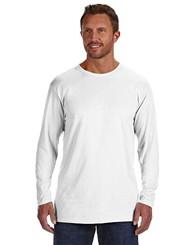 Hanes TAGLESS Nano-T Men's Long-Sleeve Tee