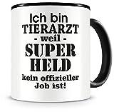 Samunshi® Ich bin Tierarzt Tasse Beruf Geschenk Kaffeetasse Teetasse Kaffeepott Kaffeebecher Becher 300ml Tierarzt