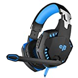 #10: Cosmic Byte Kotion Each Over the Ear Headsets with Mic & LED - G2000 Edition (Blue, Rubberized Texture)