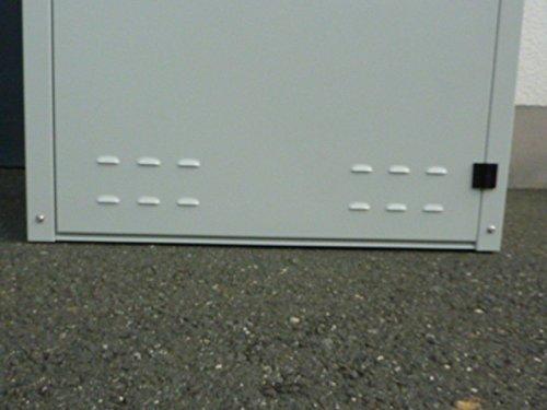 Mülltonnenbox aus Metall für 2x 120 oder 2x 240 liter MB75 DUO - 4