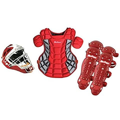 4-Pc Varsity Fast Pitch Catcher Gear Pack in Scarlet