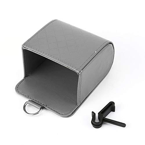 Heaviesk Auto Outlet Air Vent PU Leder Aufbewahrungstasche Mülleimer Handy Halter Tasche Organizer Hängen Box Tasche Auto Liefert -