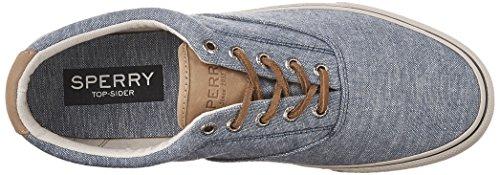 Sperry Top-Sider Striper ll CVO Linen, Scarpe da Ginnastica Uomo Blu (Blue)