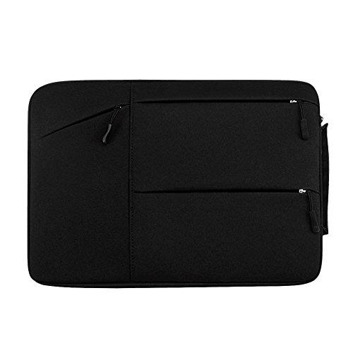 15-15.6 Zoll Laptoptasche mit Griff, tragbare Schutzhülle Sleeve Hülle Schutztasche Aktentasche für Acer/Asus/Dell/Fujitsu/Lenovo/HP/Samsung/Sony/Toshiba,Schwarz