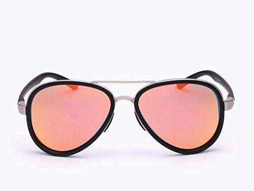 Wanderer Mode Männliche Lady Polarisierte Sonnenbrille Gradient Polarized Spiegel True Color Film, pink Kokons